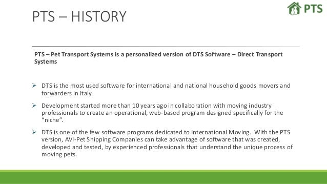 Pts software for Pet Shipping Company