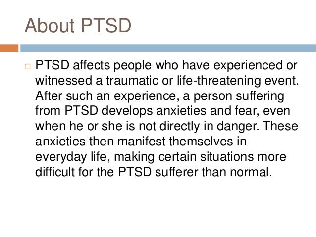 symptoms of post traumatic stress disorder Complex ptsd is a proposed disorder which is different to post-traumatic stress disorder many of the issues and symptoms endured by complex trauma survivors are outside of the list of symptoms within the (uncomplicated) ptsd diagnostic criterion.