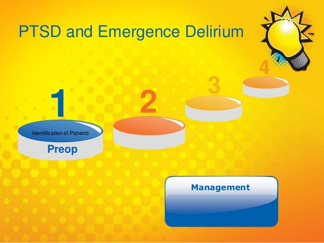 Identification of Patients Preop 1 2 3 4 Management PTSD and Emergence Delirium