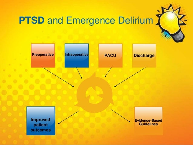Preoperative PACU DischargeIntraoperative Improved patient outcomes Evidence-Based Guidelines PTSD and Emergence Delirium