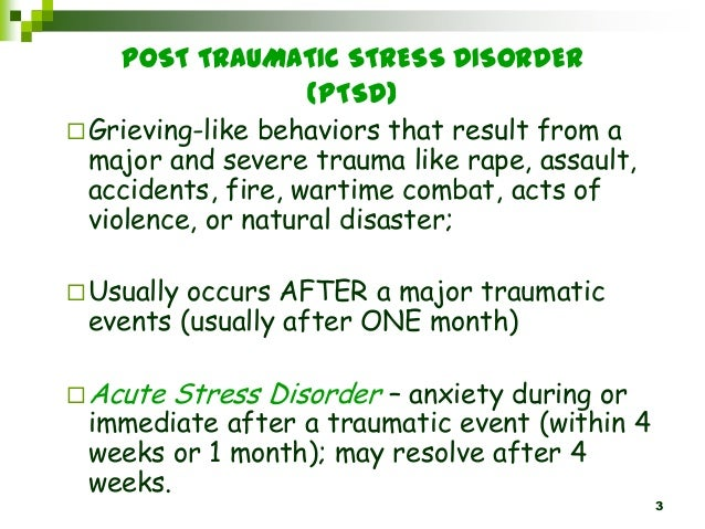 natural disasters acute stress disorder and posttraumatic stress disorder essay What is ptsd (posttraumatic stress disorder) ptsd, or posttraumatic stress disorder, is a psychiatric disorder that can occur following the experience or witnessing of a life-threatening events such as military combat, natural disasters, terrorist incidents, serious accidents, or physical or sexual assault in adult or childhood.