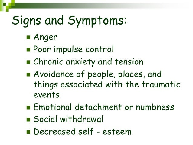the signs and symptoms of post traumatic stress disorder It has been estimated that as many as 80% of individuals diagnosed with ptsd are also diagnosed with at least one other disorder the most common disorders that co-occur with ptsd include: major depression dysthymia bipolar disorders anxiety disorders adjustment disorders.