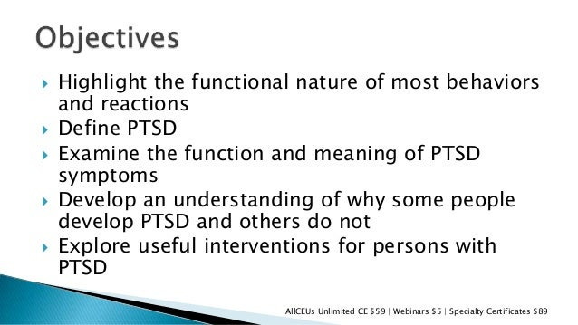 The definition symptoms and treatment of ptsd