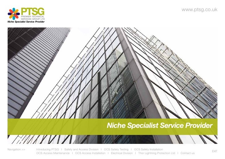 www.ptsg.co.uk            PREMIER TECHNICAL            SERVICES GROUP LTDNiche Specialist Service ProviderNavigation >> 		...
