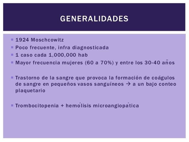 PURPURA TROMBOCITOPENICA TROMBOTICA Slide 2