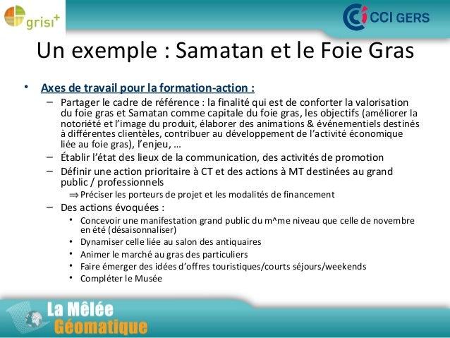 Un exemple : Samatan et le Foie Gras •  Axes de travail pour la formation-action :  – Partager le cadre de référence : la ...