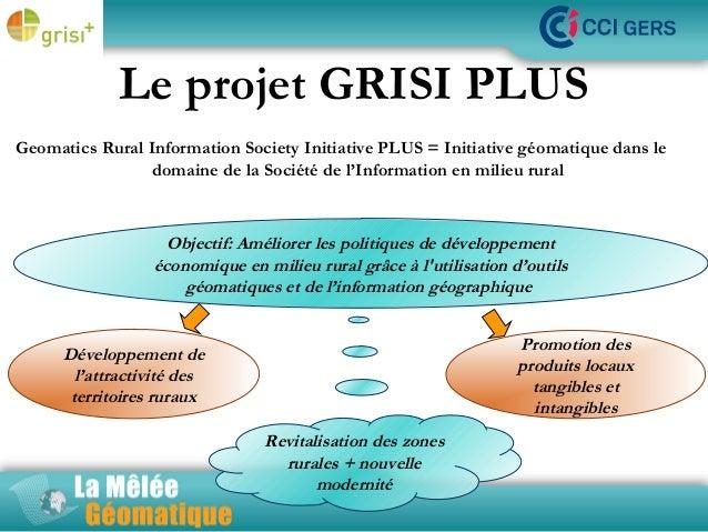 Le projet GRISI PLUS Geomatics Rural Information Society Initiative PLUS = Initiative géomatique dans le La milieu rural d...