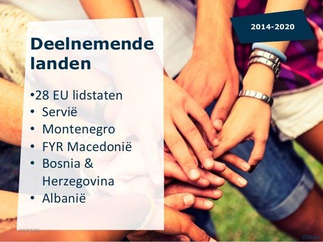 Deelnemende landen •28  EU  lidstaten   • Servië   • Montenegro   • FYR  Macedonië   • Bosnia  &   ...
