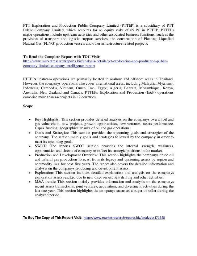 Report Overview: PTT Exploration and Production Public Market Size Co…