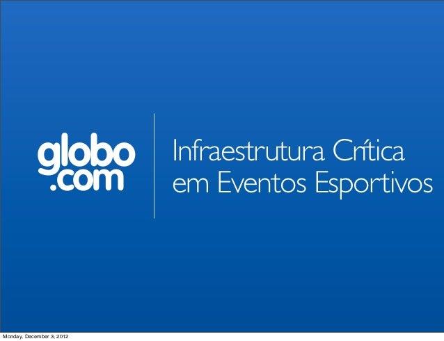 globo          Infraestrutura Crítica                .com       em Eventos EsportivosMonday, December 3, 2012