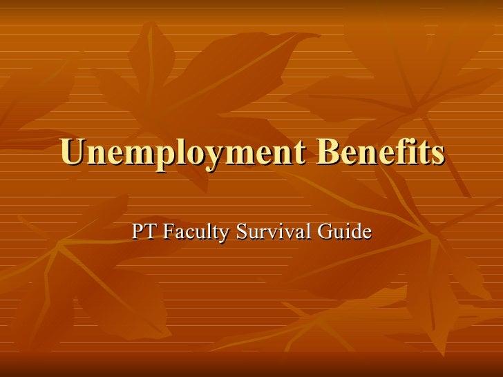 Unemployment Benefits PT Faculty Survival Guide