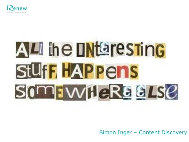 Simon Inger – Content Discovery