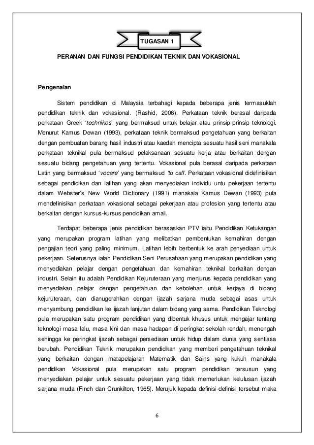 Peranan Dan Fungsi Pendidikan Teknik Dan Vokasional