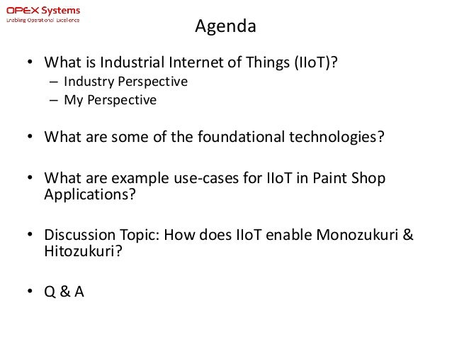 industrial internet of things iiot for automotive paint shop operat