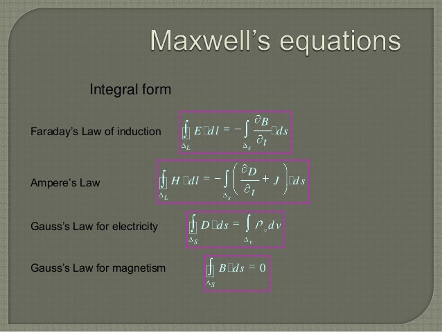 derivation of maxwell equations pdf