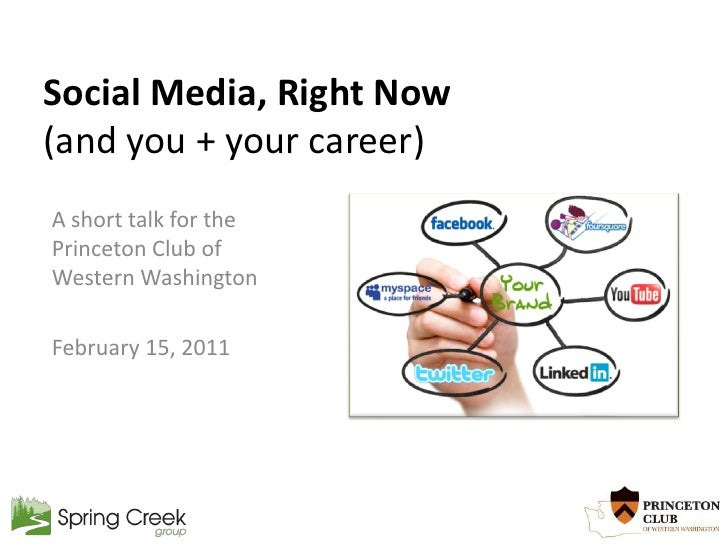 Social Media, Right Now(and you + your career)A short talk for thePrinceton Club ofWestern WashingtonFebruary 15, 2011