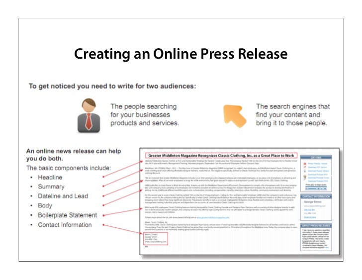 writing a good press release Writing a press release for your small business public relations professionals offer their tips for how to write an effective release that gets read.
