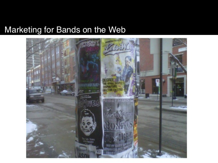 Marketing for Bands on the Web