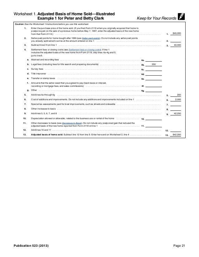 IRS Pub 523 – Irs Insolvency Worksheet