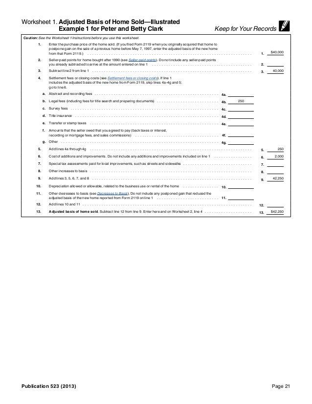 IRS Pub 523 – Irs Depreciation Worksheet