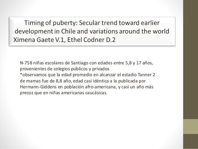 N-758 niñas escolares de Santiago con edades entre 5,8 y 17 años, provenientes de colegios públicos y privados *observamos...