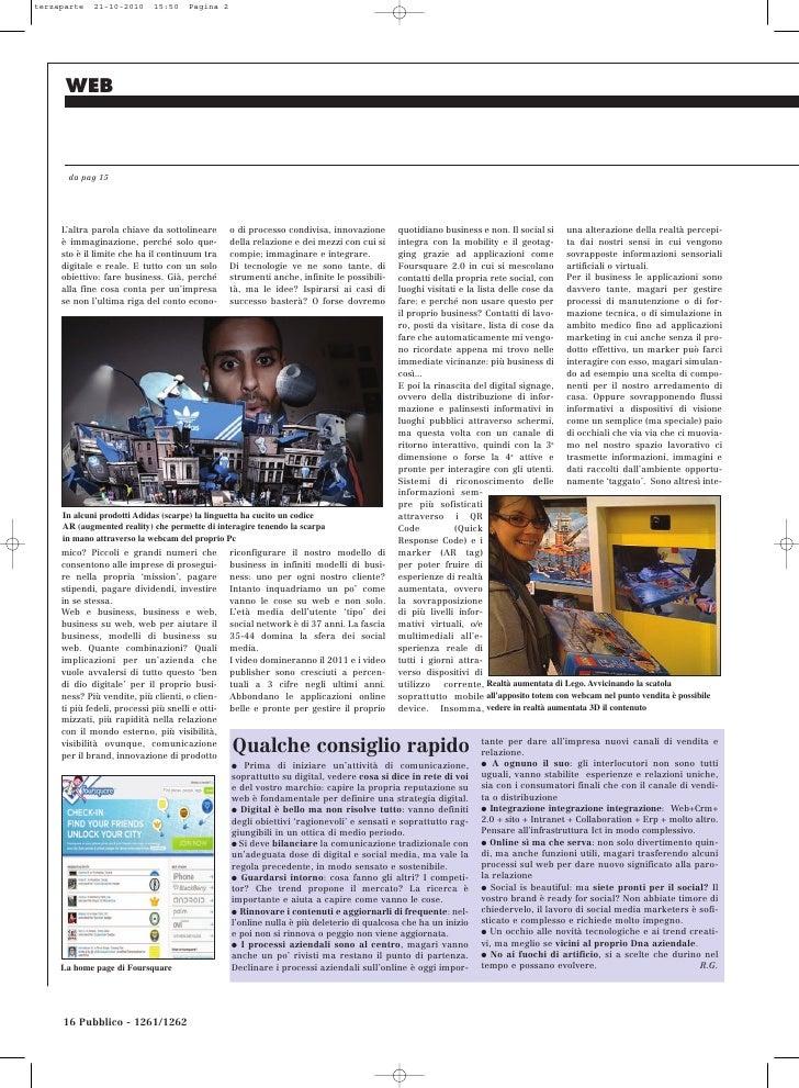 terzaparte   21-10-2010      15:50     Pagina 2      WEB      da pag 15     L'altra parola chiave da sottolineare        o...