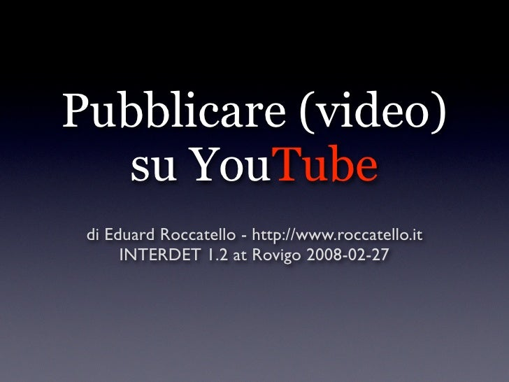 Pubblicare (video)   su YouTube  di Eduard Roccatello - http://www.roccatello.it       INTERDET 1.2 at Rovigo 2008-02-27