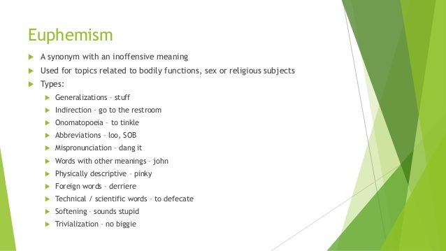 Euphemism synonym