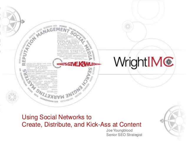 Presentation Title HereUsing Social Networks to    Tony WrightCreate,Founder, Wright IMC and Kick-Ass at Content    CEO & ...