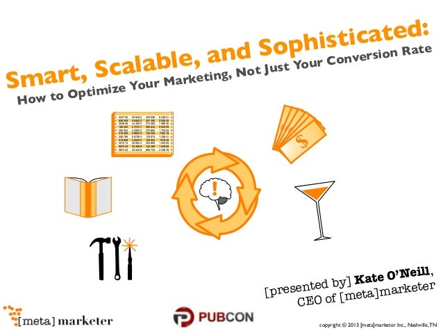 copyright © 2013 [meta]marketer Inc., Nashville,TNSmart, Scalable, and Sophisticated:How to Optimize Your Marketing, Not J...