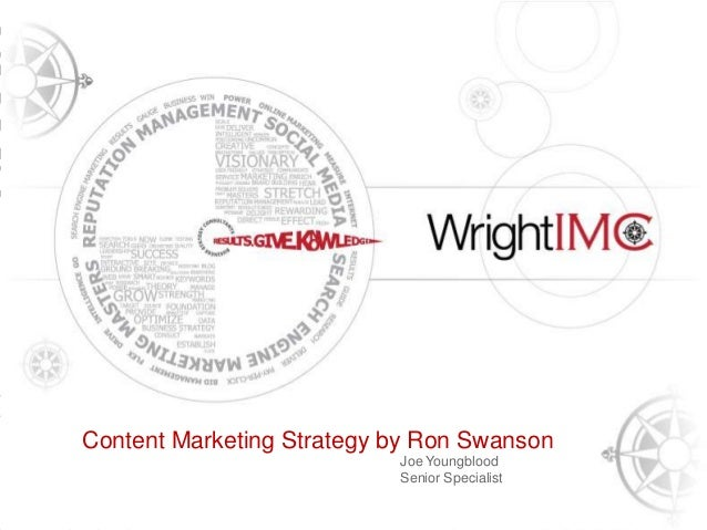 Presentation Title Here  Content Marketing Strategy by Ron Swanson Tony Wright CEO & Founder, Wright IMC  Joe Youngblood S...