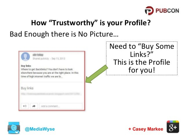 """How """"Trustworthy"""" is your Profile? Bad Enough there is No Picture… Need to """"Buy Some Links?"""" This is the Profile for you! ..."""