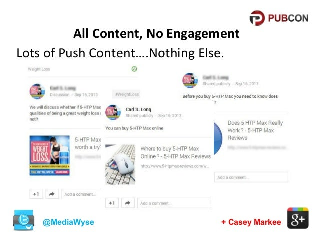 All Content, No Engagement Lots of Push Content….Nothing Else.  @MediaWyse  + Casey Markee