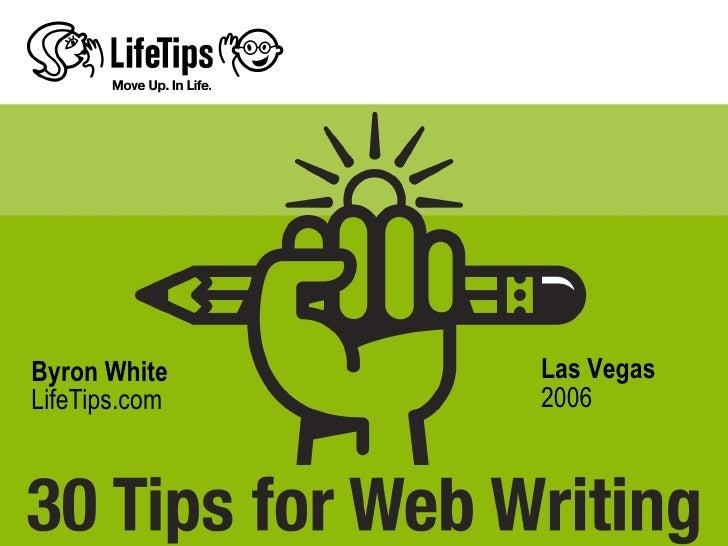 Byron White    Las Vegas LifeTips.com   2006