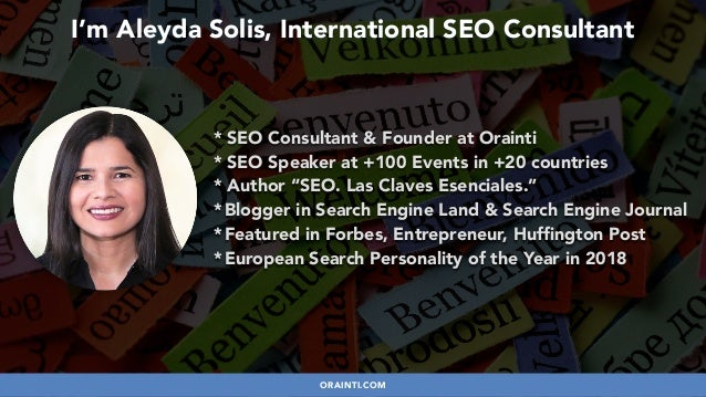 #HREFLANGSUCCESS BY @ALEYDA FROM #ORAINTI AT @PUBCON * SEO Consultant & Founder at Orainti * SEO Speaker at +100 Events in...