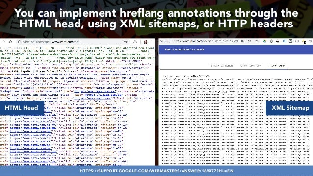 #HREFLANGSUCCESS BY @ALEYDA FROM #ORAINTI AT @PUBCON You can implement hreflang annotations through the HTML head, using XM...
