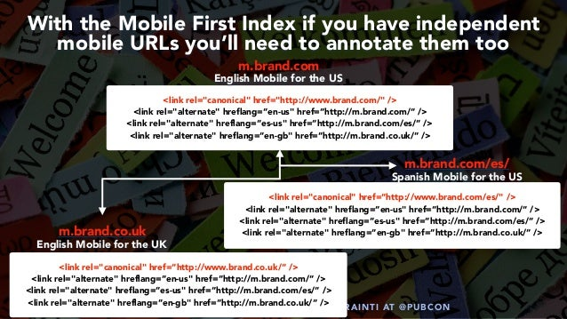#HREFLANGSUCCESS BY @ALEYDA FROM #ORAINTI AT @PUBCON With the Mobile First Index if you have independent mobile URLs you'l...