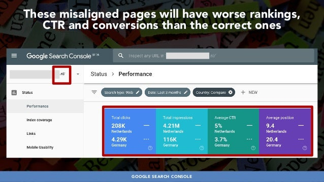 #HREFLANGSUCCESS BY @ALEYDA FROM #ORAINTI AT @PUBCON These misaligned pages will have worse rankings,  CTR and conversion...