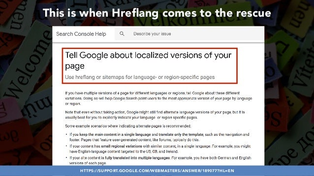 #HREFLANGSUCCESS BY @ALEYDA FROM #ORAINTI AT @PUBCON This is when Hreflang comes to the rescue HTTPS://SUPPORT.GOOGLE.COM/W...