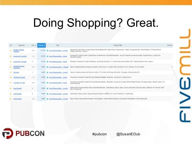 Doing Shopping? Great. #pubcon @SusanEDub