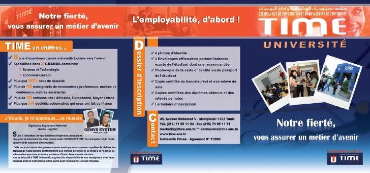 Université privée en Tunisie : Time Université