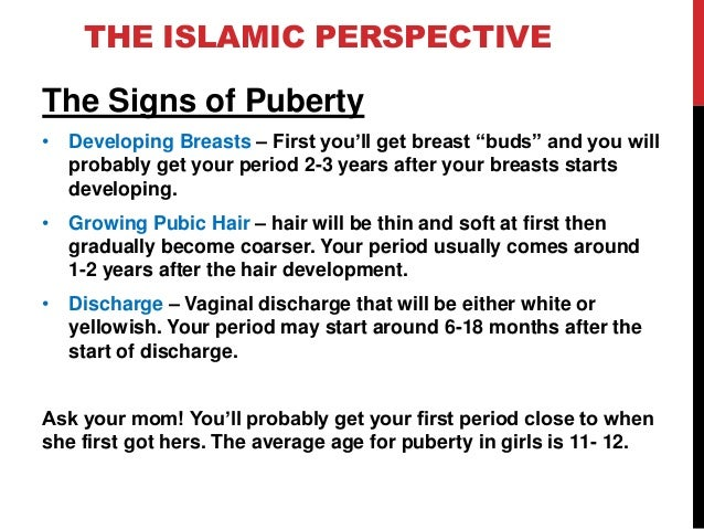 signs of puberty in girls