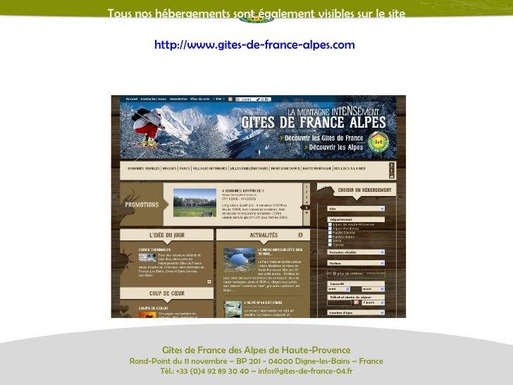 Gites de france des alpes de haute provence for Gites de france provence