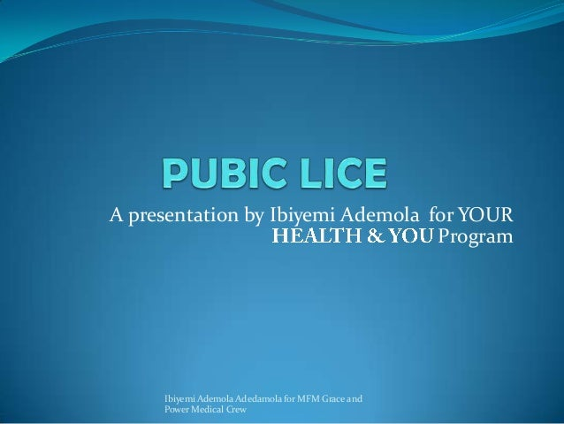 A presentation by Ibiyemi Ademola for YOUR Program Ibiyemi Ademola Adedamola for MFM Grace and Power Medical Crew