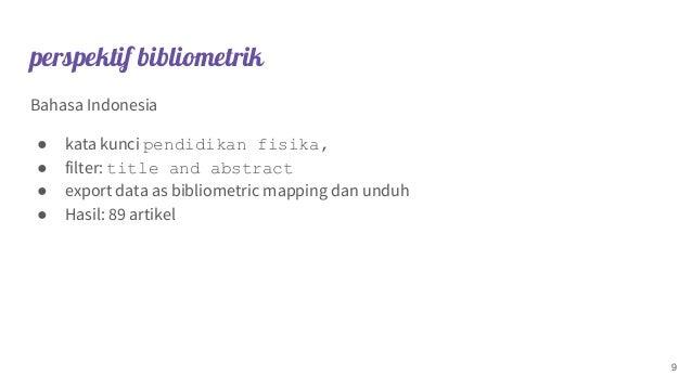perspektif bibliometrik Bahasa Indonesia ● kata kunci pendidikan fisika, ● filter: title and abstract ● export data as bib...