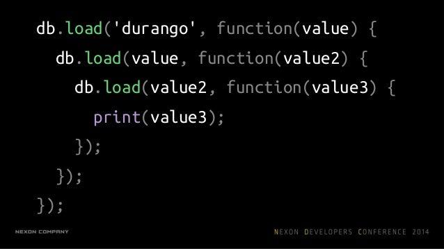 코루틴 I/O value = yield db.load('durango') print value 다른 일