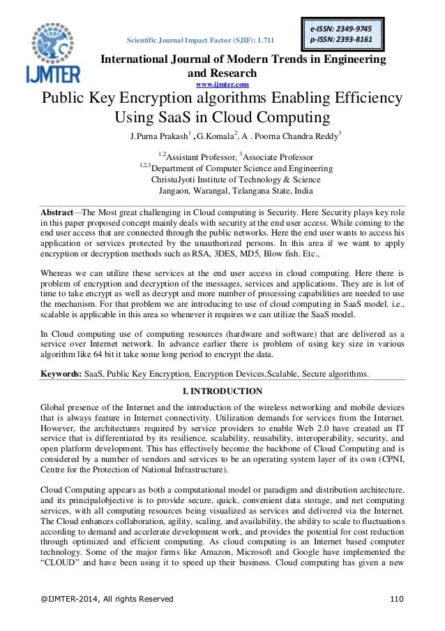 Public key cryptography research papers