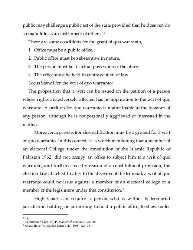Public law-remedies-prerogative-writs