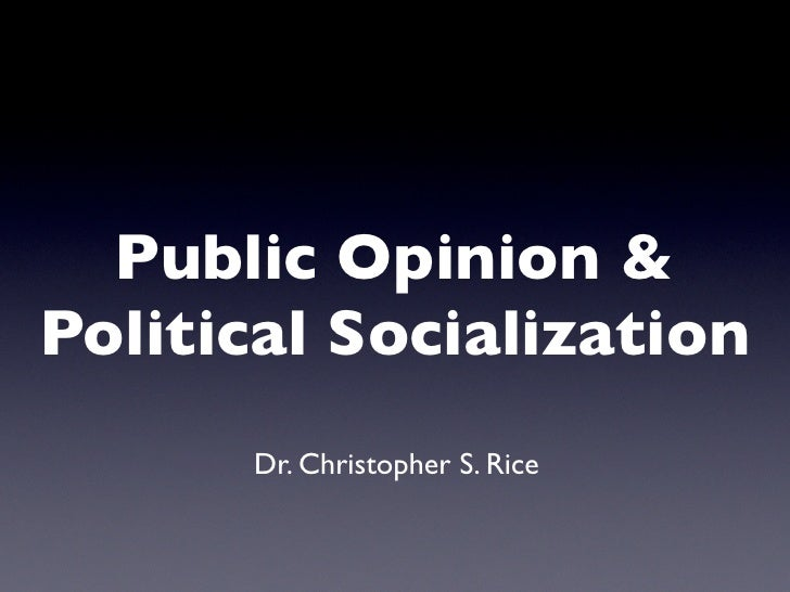 public opinion and political socialization essay This paper will explore the role that the media has played in the political socialization of the youth skip to  sparknote on political culture and public opinion.