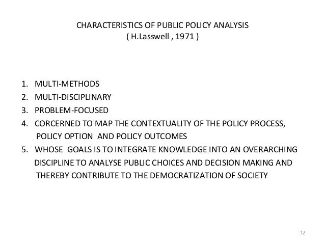 analysing public policy This course will introduce participants to key concepts and methods for gender analysis of public policy participants will develop a good understanding of the differential impact of policy and its funding on men and women and the implications of this for policy development and implementation the.